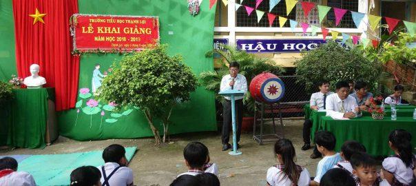 Đại diện cấp xã Đ/C Nguyễn Công Thành (bí thư xã Thạnh Lợi), phát biểu