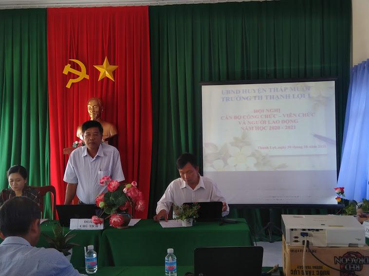 Thầy Nguyễn Thành Tâm - Bí thư chi bộ - hHiệu trưởng nhà Trường